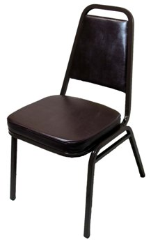Economy Stack Chair with 2  Vinyl Seat