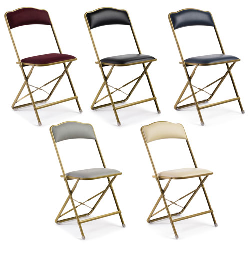 Fritz Style Premium Party Bridge Chair   Gold Frame