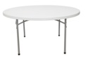 60  Round Lightweight Plastic Folding Table