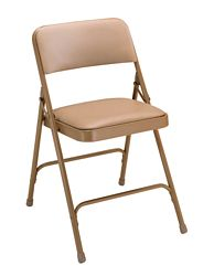 Vinyl Upholstered Premium Folding Chair