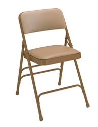 Vinyl Upholstered Premium Triple Brace Folding Chair