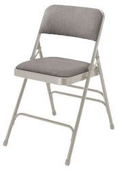Fabric Upholstered Premium Triple Brace Folding Chair