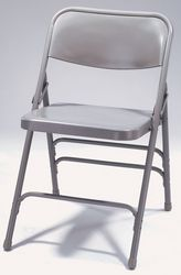 Premium All-Steel Triple Brace Folding Chair