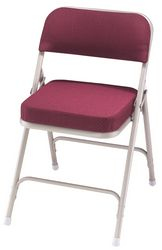 2  Upholstered Seat Folding Chair