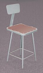 Heavy Duty Steel Stools with Square Contoured Hardboard Seat