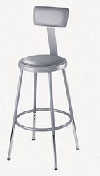 Heavy Duty Steel Stools with Thick Vinyl Padded Seat
