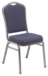 NPS Silhouette Fabric Padded Banquet Stack Chair
