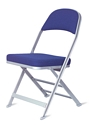 Clarin Enhanced Steel Folding Chair with Luxurious Seat and Back Cushions