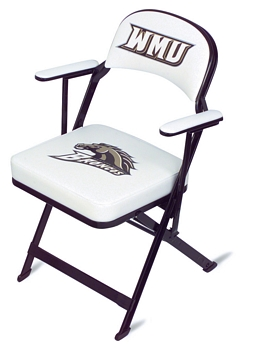 Clarin Enhanced Steel Folding Chair with Luxurious Seat and Back Cushions and Arm Rests