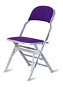 Clarin Manual Uplift Seat Folding Chair with Upholstered Back and Seat