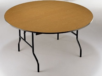 Plywood Round Banquet Folding Tables
