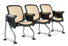 OFM Ready Link Group Seating with Fold Down Tablet Arm