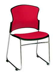 OFM Multi Use Fabric Seat and Back Padded Stack Chair