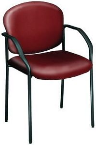 OFM Stackable Vinyl Guest/Reception Chair with Arms