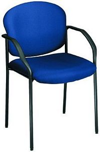 OFM Stackable Fabric Guest/Reception Chair with Arms